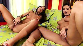 Mutual, Brunette, Cute, Lesbian, Lesbian Teen, Lesbian Toys