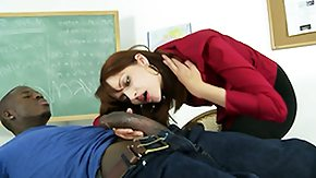 Teachers, Big Black Cock, Big Cock, Blowjob, Brunette, Cumshot