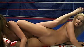 Wrestling, Babe, Blonde, Brunette, Fight, Horny