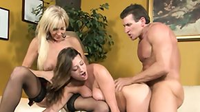 Watching Mom, 3some, Babe, Daughter, Group, Mature