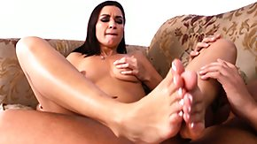 Ann Rios, Blowjob, Brunette, Feet, Fetish, Handjob