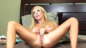 Bed, Bed, Blonde, Masturbation, Solo