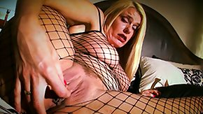 Fishnet, Anal Finger, Ass, Blonde, Cunt, Fingering