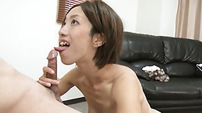 Asian, Asian, Blowjob, Brunette, Cumshot, Handjob