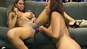 Lesbian Strapon, Black, Black Lesbian, Dildo, Ebony, Hardcore