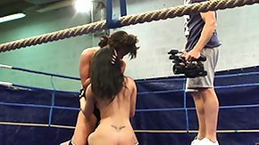 Melanie Memphis, Babe, Brunette, Fight, Monster, Muff Diving