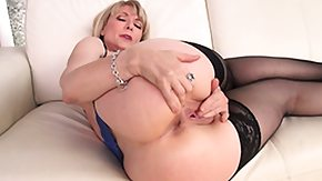 Mature Stocking, Big Tits, Blonde, Boobs, Granny Big Tits, Leggings