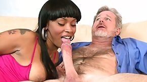 Old Ebony, Black, Black Old and Young, Black Teen, Blowjob, Brunette