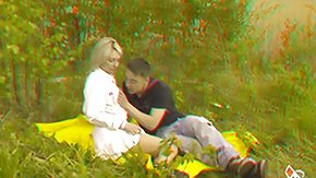 3D High Definition sex Movies Couple in a meadow