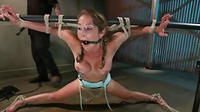Tied Up, Bar, BDSM, Bondage, Bound, Brunette